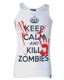 Keep Calm Kill A Zombie Beater Vest