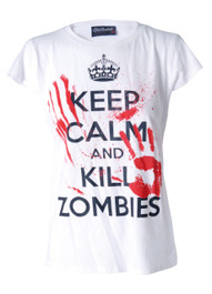 Keep Calm Kill Zombies Womens T Shirt
