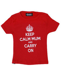 Keep Calm Mum And Carry On Kids T Shirt