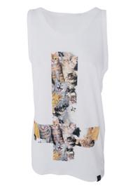 Kitty Cross White Vest