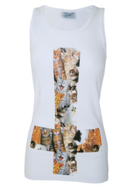 Kitty Inverted Cross Beater Vest