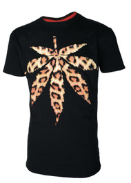 Leopard Hemp Leaf T-Shirt