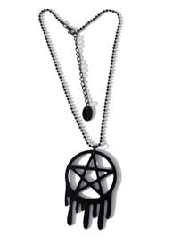 Melting Pentacle Star Necklace