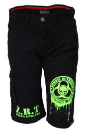 Mens Fluo Green Zombie Response Shorts