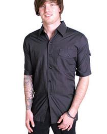 Mens Lightweight Black Workshirt