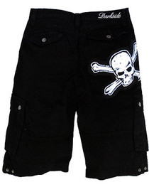 Mens White Skull Shorts