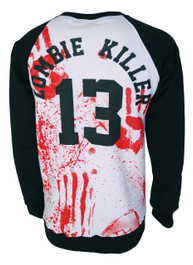 Mens Zombie Killer 13 Baseball Sweatshirt