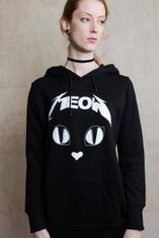 Metal Meow Skinny Pullover Hood