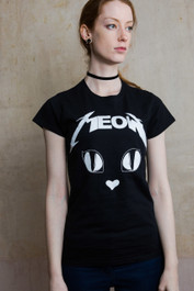 Metal Meow Womens T Shirt