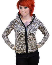 Natural  Leopard Skinny Pocket Hood