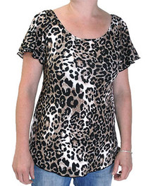 Natural Leopard Flared Top