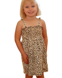 Natural Leopard Girls Dress