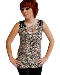 Natural Leopard Thread Top