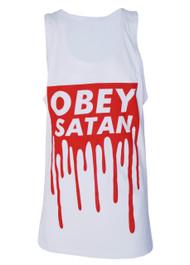 Obey Satan White Vest