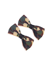 Pair Of Camouflage Hairbows