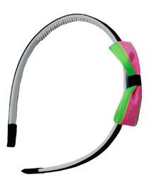 Pink & Purple Polka Dot Bow Hair Circlet