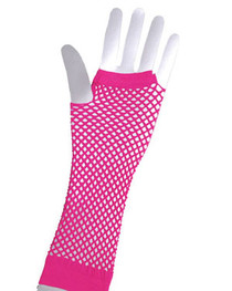 Pink Fishnet Gloves