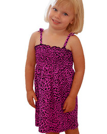 Pink Leopard Girls Dress