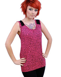 Pink Leopard Thread Top