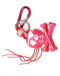 Pink Skull & Crossbones Keyring