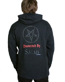 Protected By Satan  Zip Hood