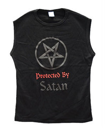 Protected By Satan Muscle Vest