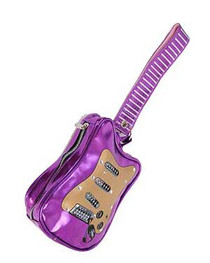 Purple Guitar Clutch Bag