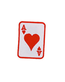 Red  Ace Of Hearts Patch