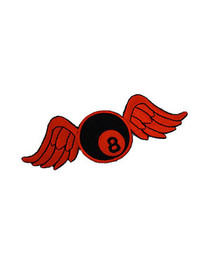 Red Bowling Ball Wings Patch
