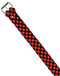 Red Checkerboard Fur Belt 38mm
