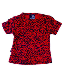 Red Leopard Baby T shirt