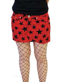 Red Star Denim Mini Skirt