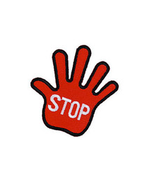 Red Stop Hand Patch