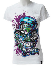Roller Derby Womens White T Shirt
