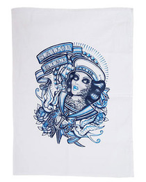 Sailor Girl Tea Towel