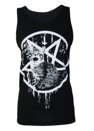 Satanic Kitty Black Vest