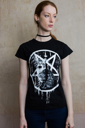Satans Kitty Womens T Shirt