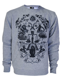 Seeing Eye Grey Unisex Sweatshirt