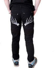Skele Hands Regular Rise Skinny Jeans