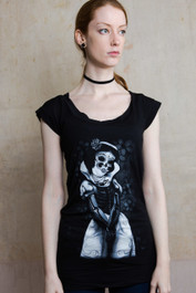 Snow White Skeleton Fitted T Dress
