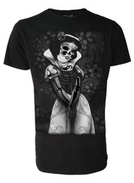 Snow White Skeleton Mens T-Shirt