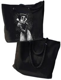 Snow White Skeleton Shopper Beach Bag