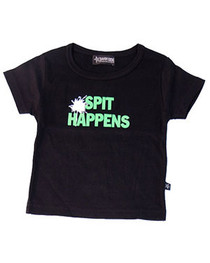 Spit Happens Black Baby/Kids T-Shirt