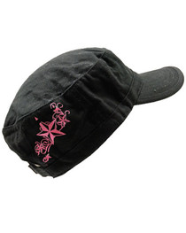 Pink Star Swirl Cadet Cap