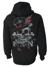 Voodoo Darkside Skull Zip Hood