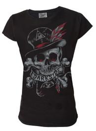 Voodoo Skull  Womens T Shirt