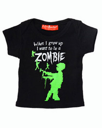 When Grow Up Zombie Baby T Shirt