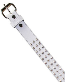 White with Silver Star Studs Belt
