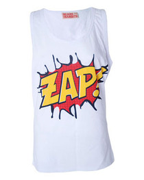 Womens Cartoon Slogan Zap Vest
