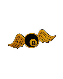 Yellow Bowling Ball Wings Patch
